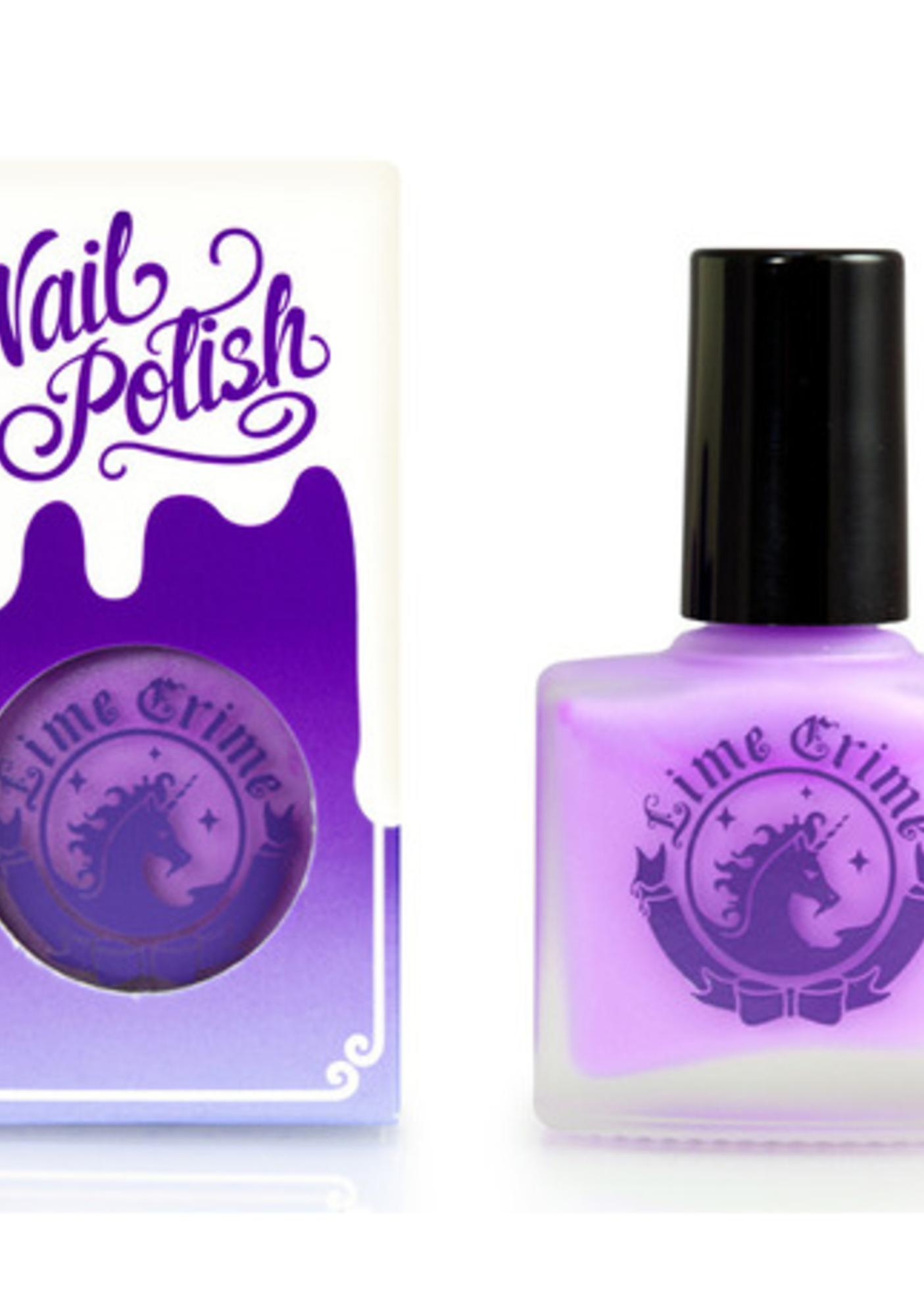 Lime Crime Lavendairy Opaque Nail Polish
