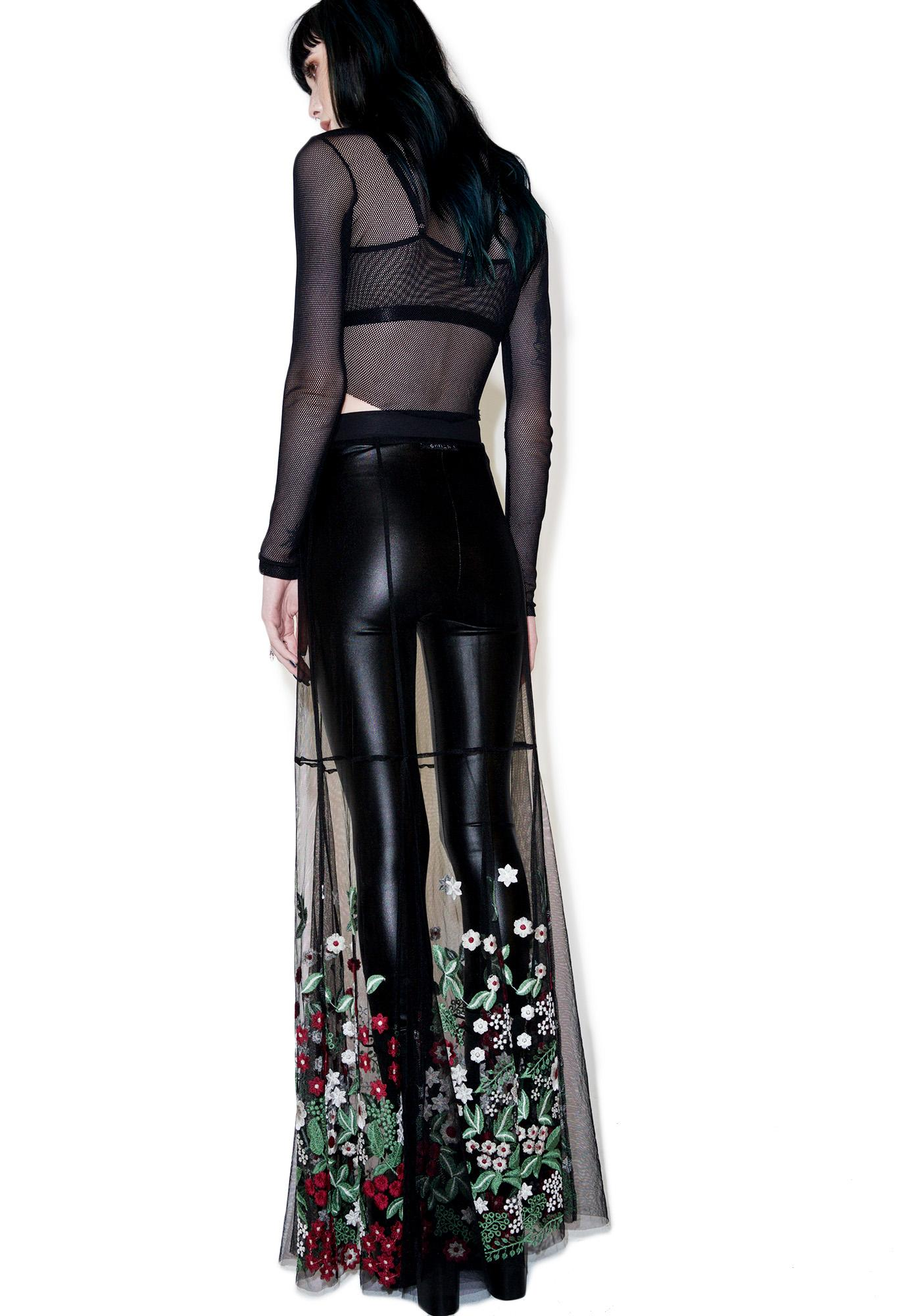 Dolls Kill Dark Garden Sheer Maxi