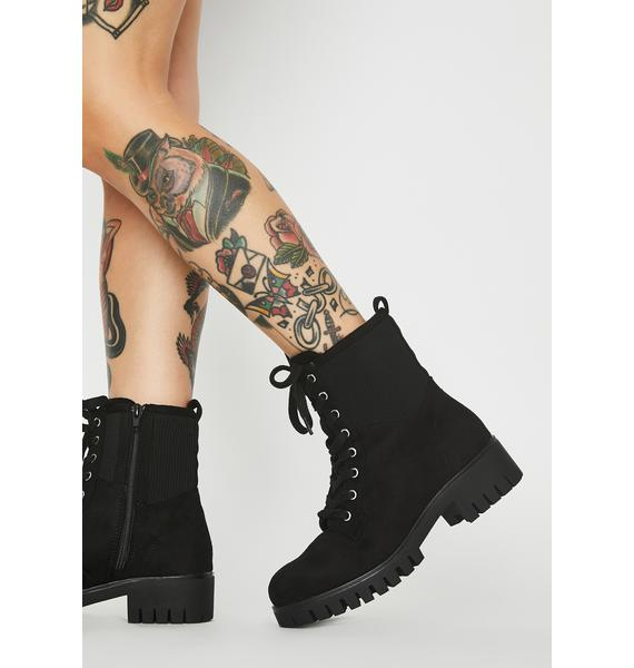 High Stakes Lace Up Boots