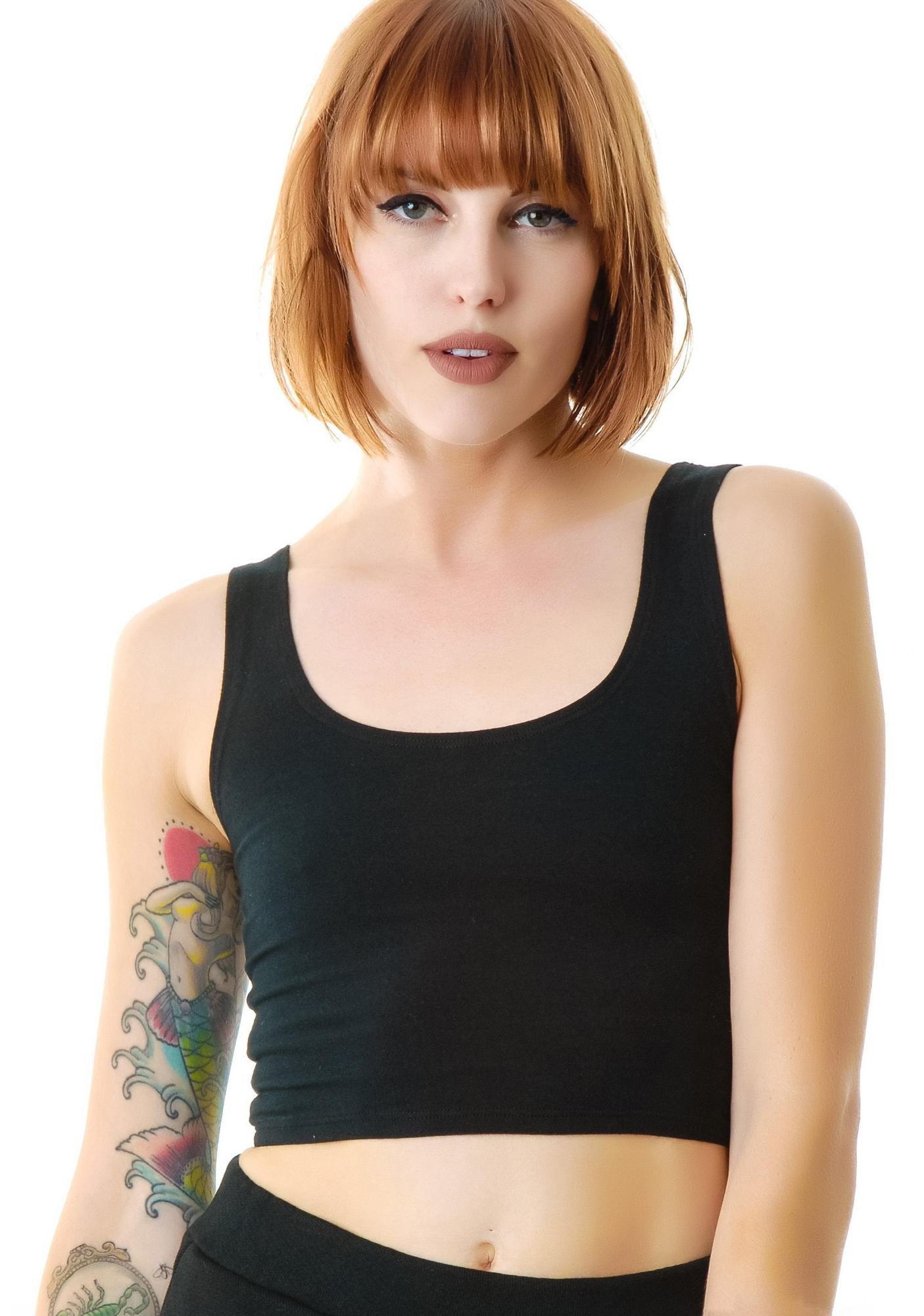 Groceries Apparel Reeves Fitted Crop Tank
