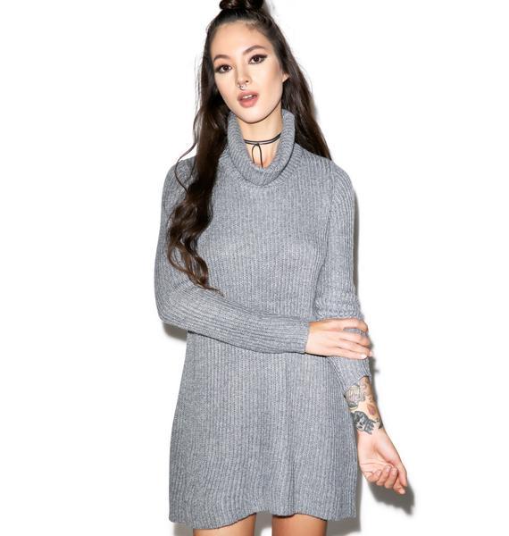 Glamorous Cut Loose Turtleneck Dress
