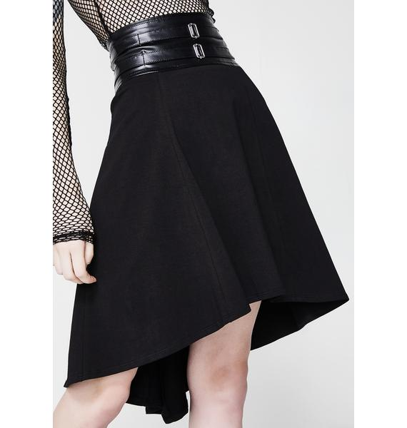 Tripp NYC Double Belted Skirt