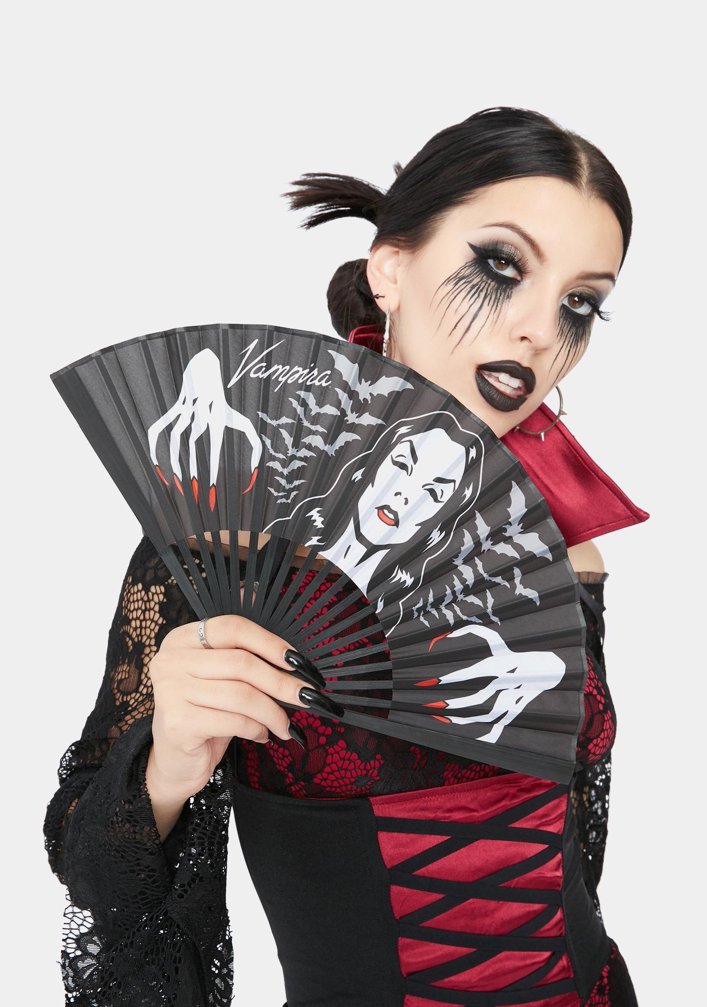 Kreepsville 666 Vampira Hands Fan