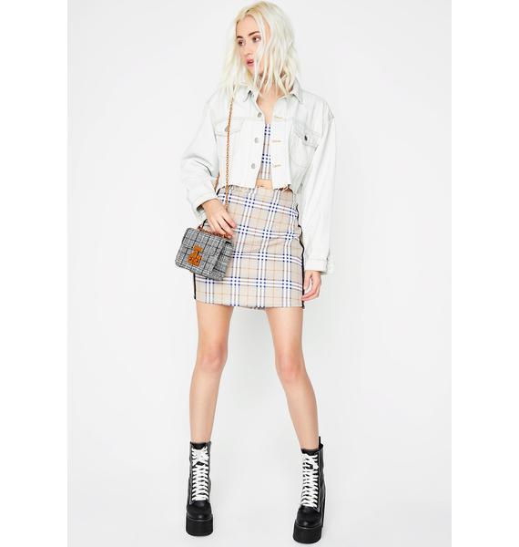Proper Misbehavior Plaid Skirt