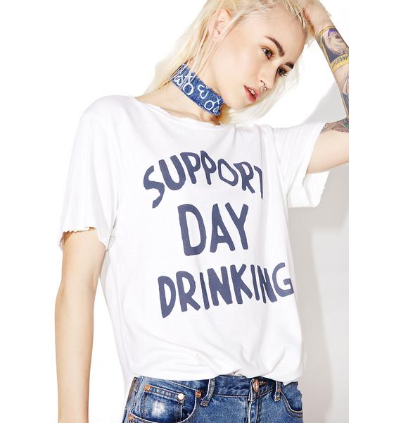 Junk Food Clothing Support Day Drinking Tee