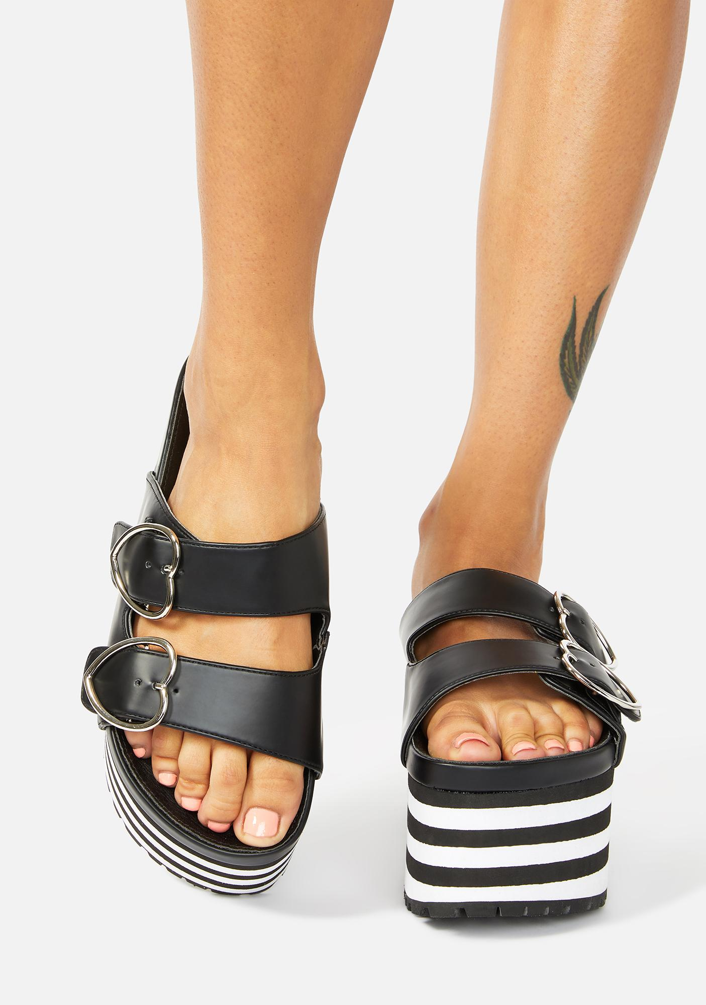 Charla Tedrick Lovesick Striped Platform Sandals