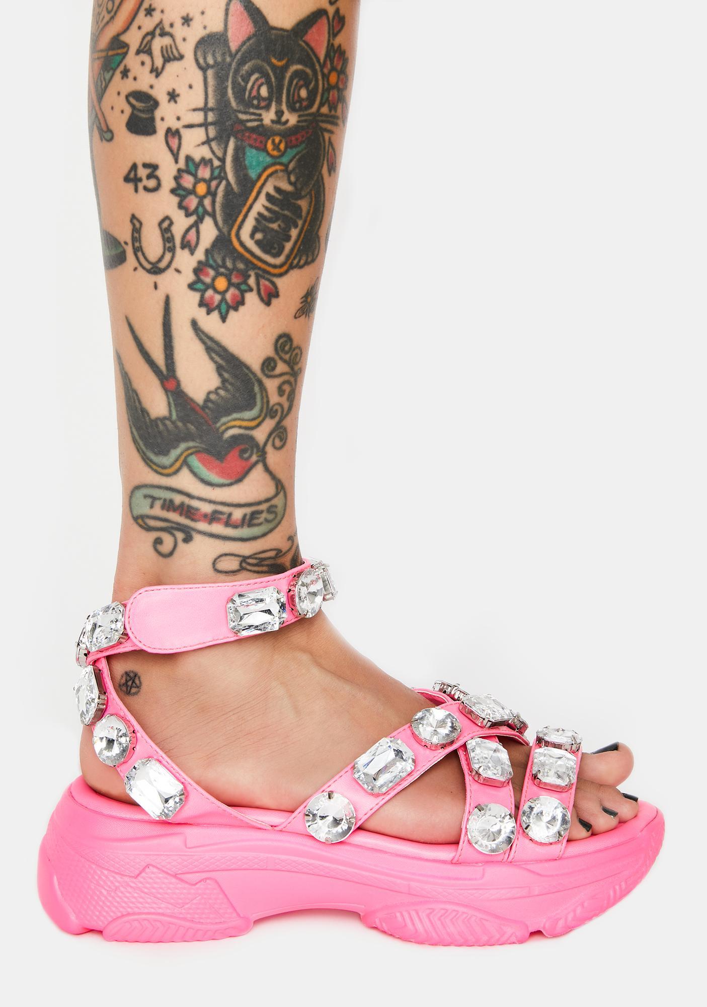 Sugar Sparklin' Strut Platform Sandals