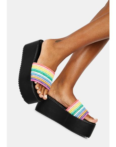 Night Sour Straws Rainbow Platform Slides