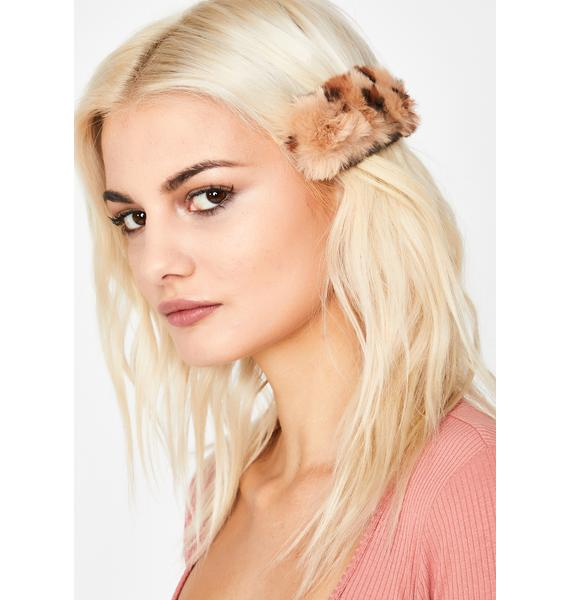Hear Me Meow Fuzzy Hair Clip