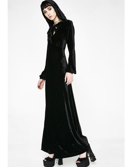 Sofia Velvet Hooded Dress