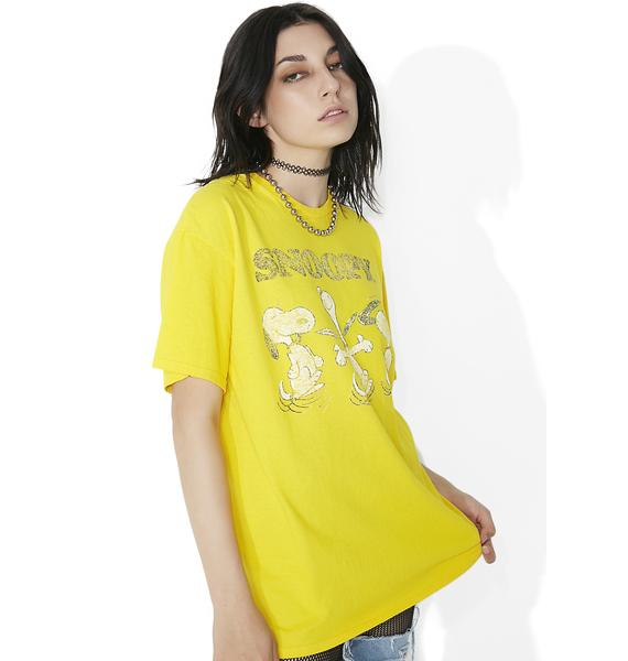 Junk Food Clothing Sunflower Snoopy Tee