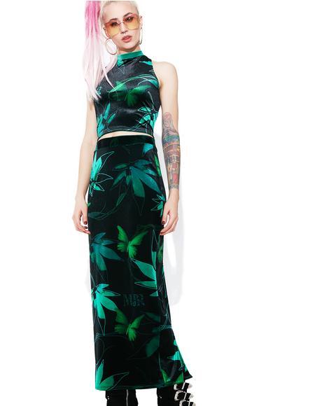 Estranja Velvet Dress Set