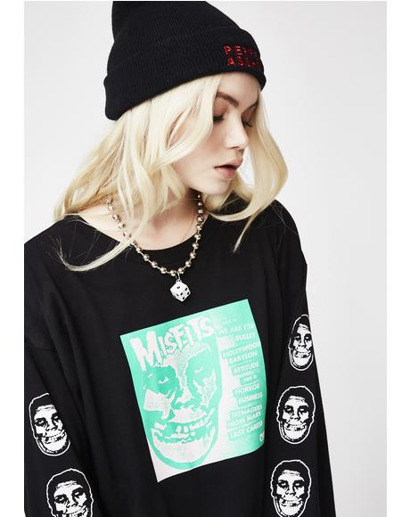 x Misfits Long Sleeve Tee