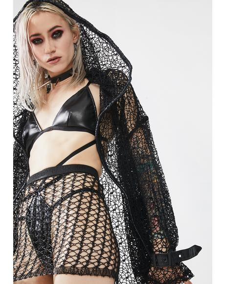 Cyber Tech Sexy Hollow Out Skirt