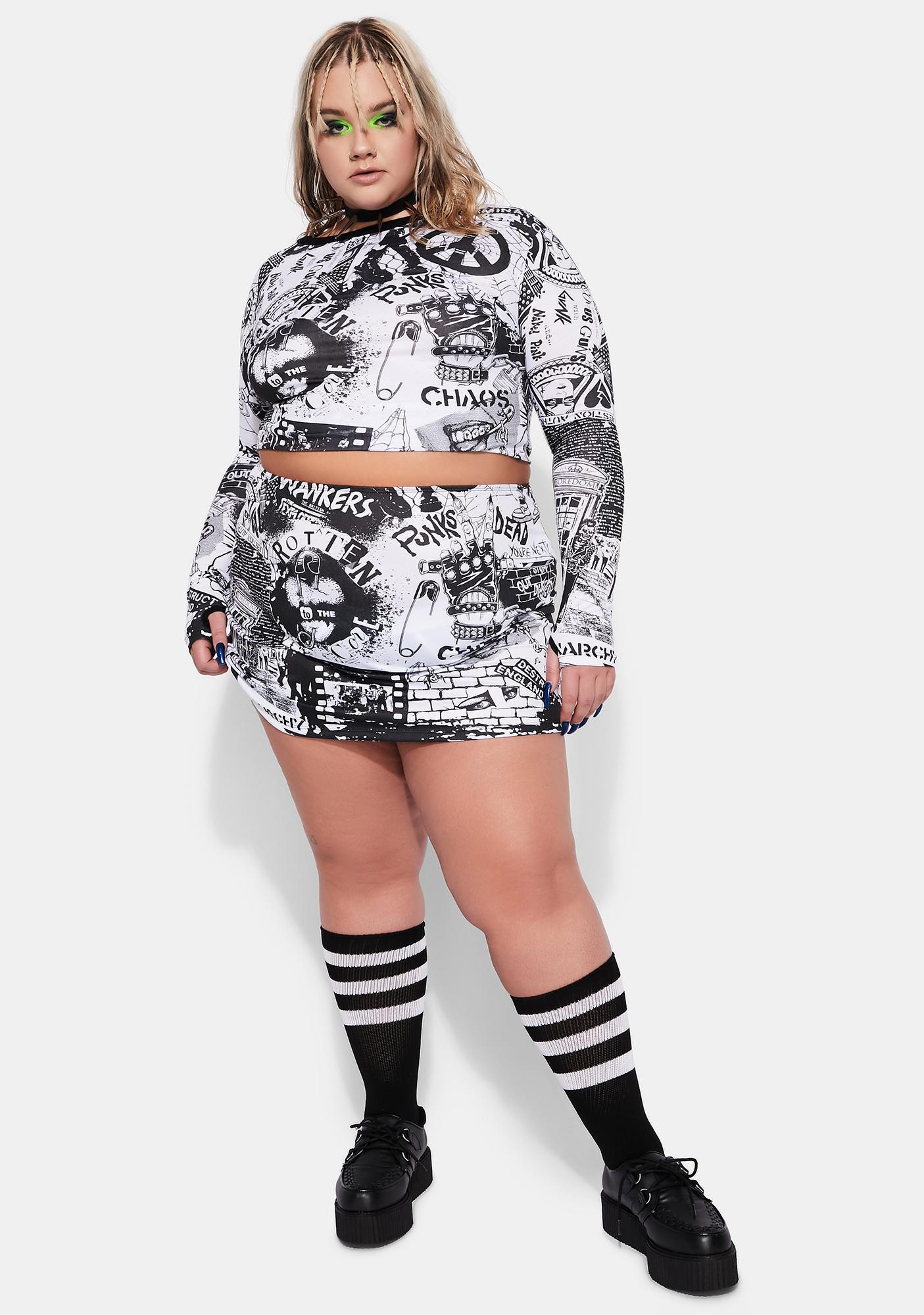 Current Mood The New Rebellion Mini Skirt