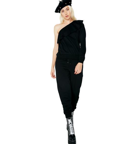 Goin' Gaga Asymmetrical Sweatshirt