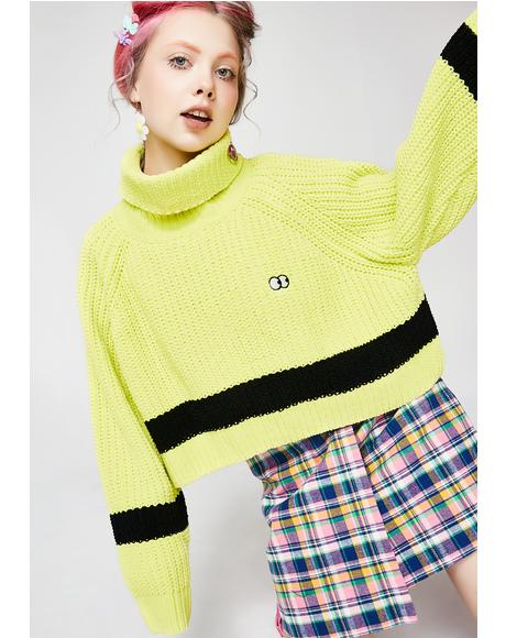 Lime Chenille Knit Jumper