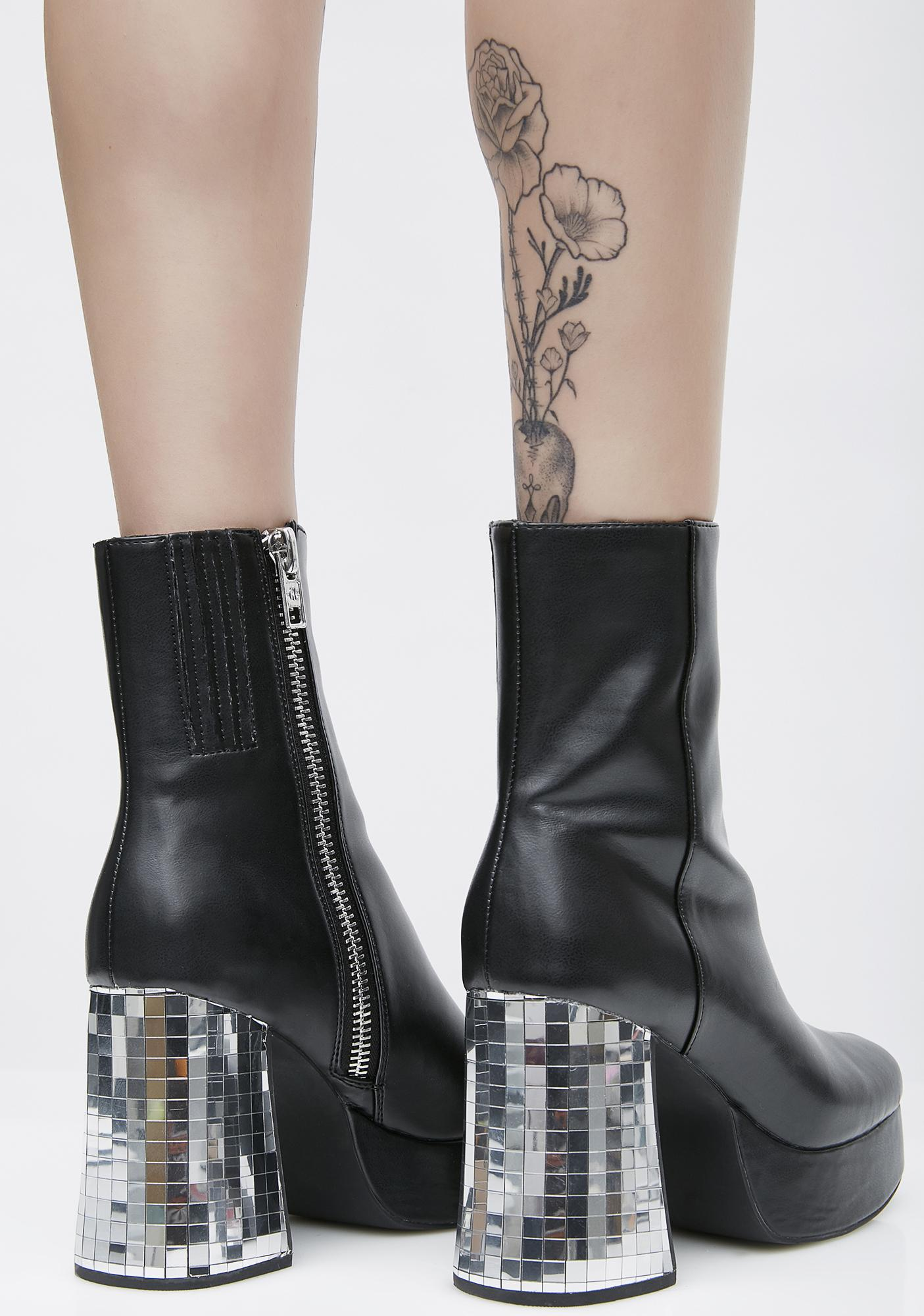 Current Mood Dirty Disco Platform Boots