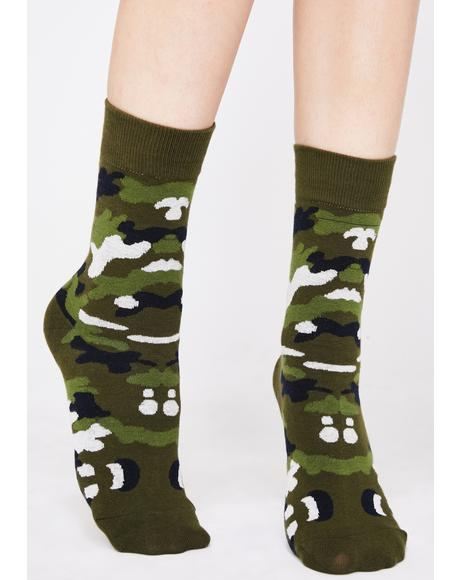 So Official Camo Socks