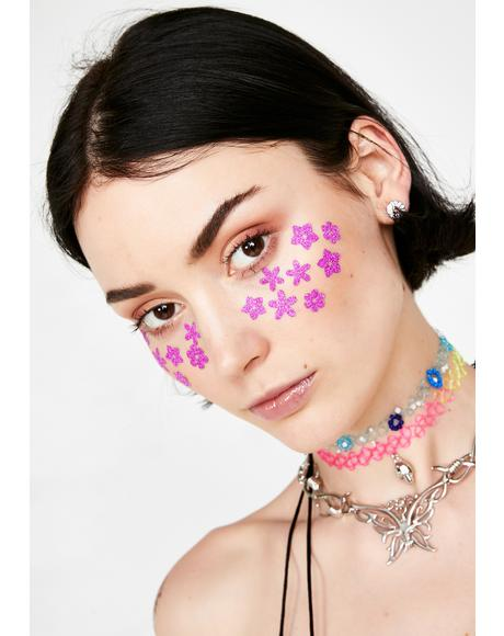 Flower Body N' Face Stickers