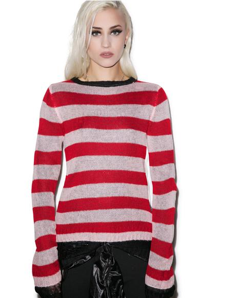 Reverse Stripe Sweater