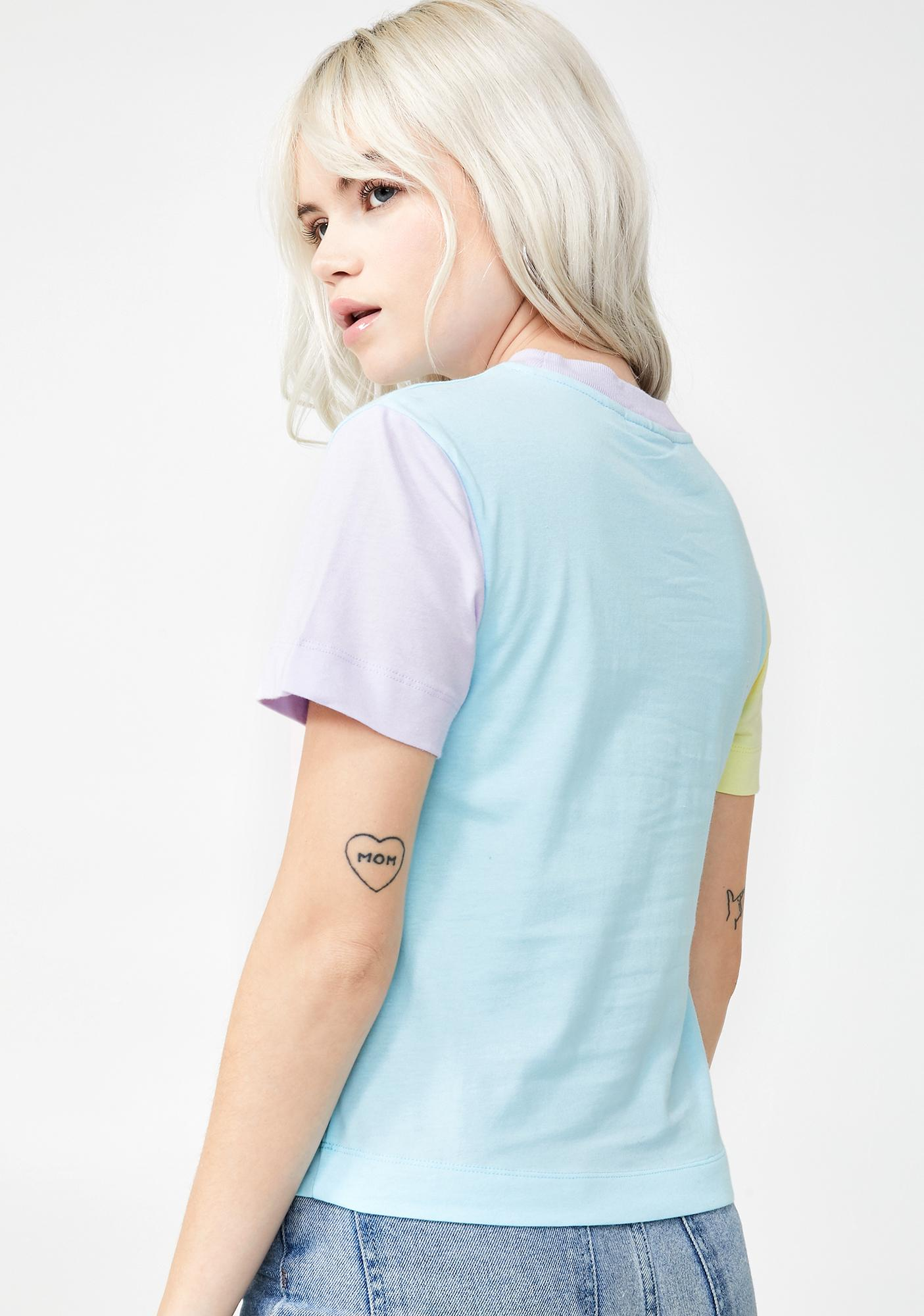 Lazy Oaf x Studio Arhoj Colour Block Fitted Tee