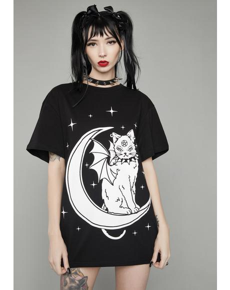Creature Of The Night Oversized Tee