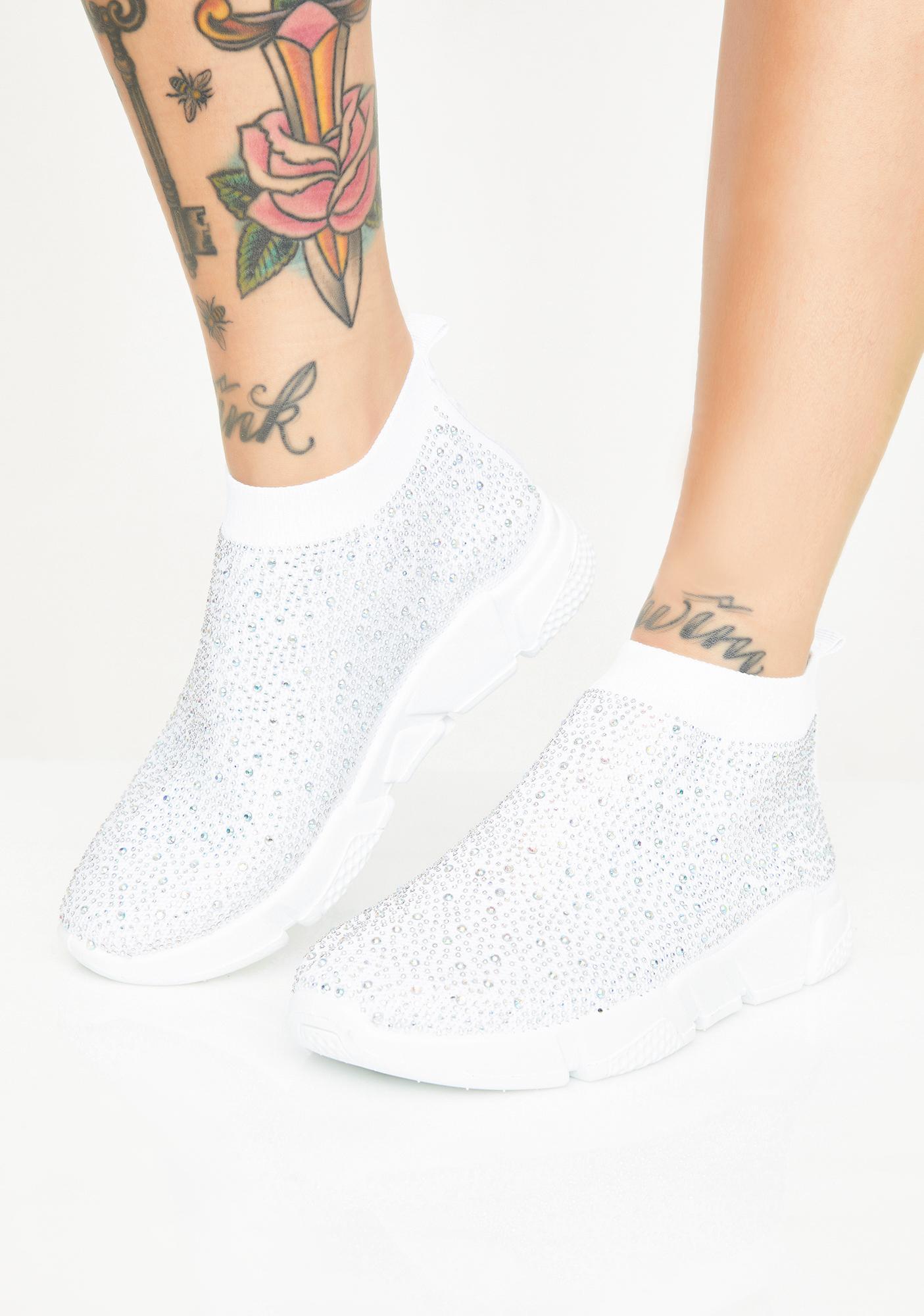 AZALEA WANG Frosty Diamonds Sock Sneakers