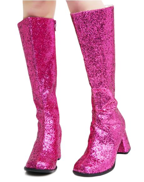 Go-Go Baby Glitter Boots