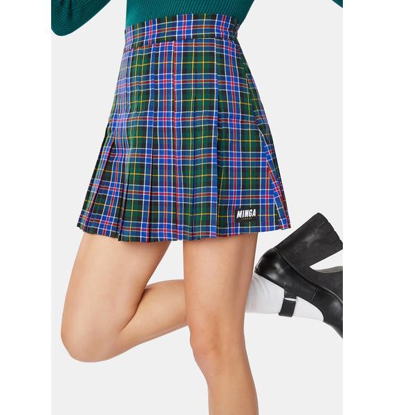 Minga Too Cool For School Pleated Skirt