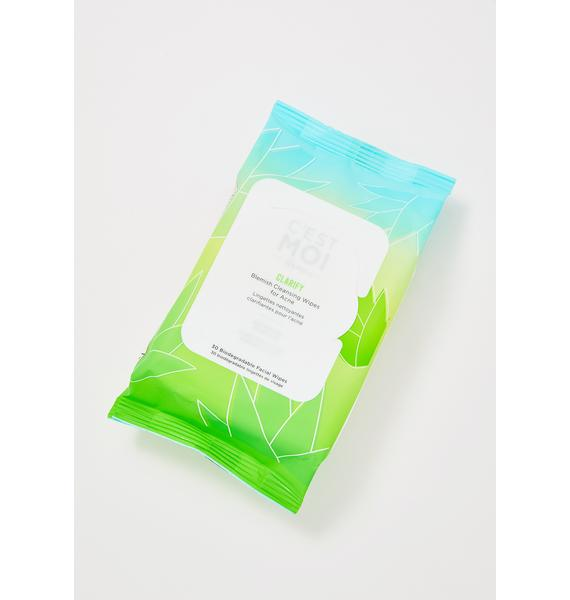 C'EST MOI BEAUTY Clarify Blemish Cleansing Wipes for Acne