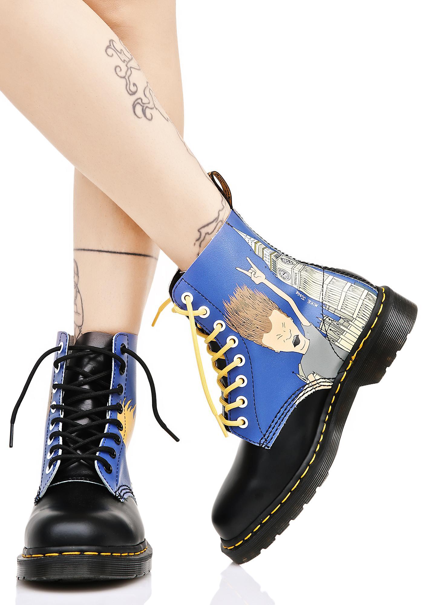 Dr. Martens Beavis & Butthead Pascal 8 Eye Boots