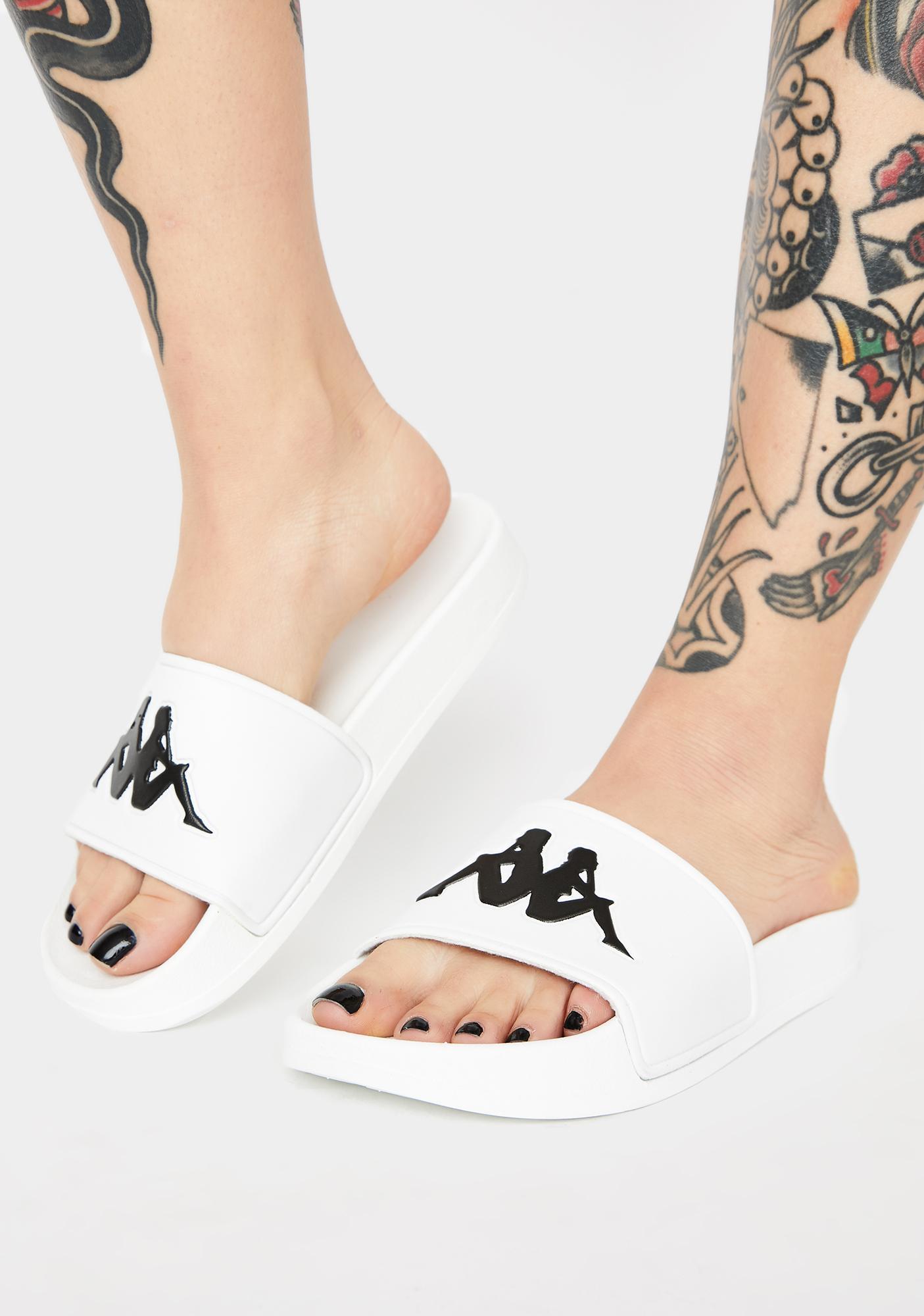 Kappa White Authentic Adam 2 Slides