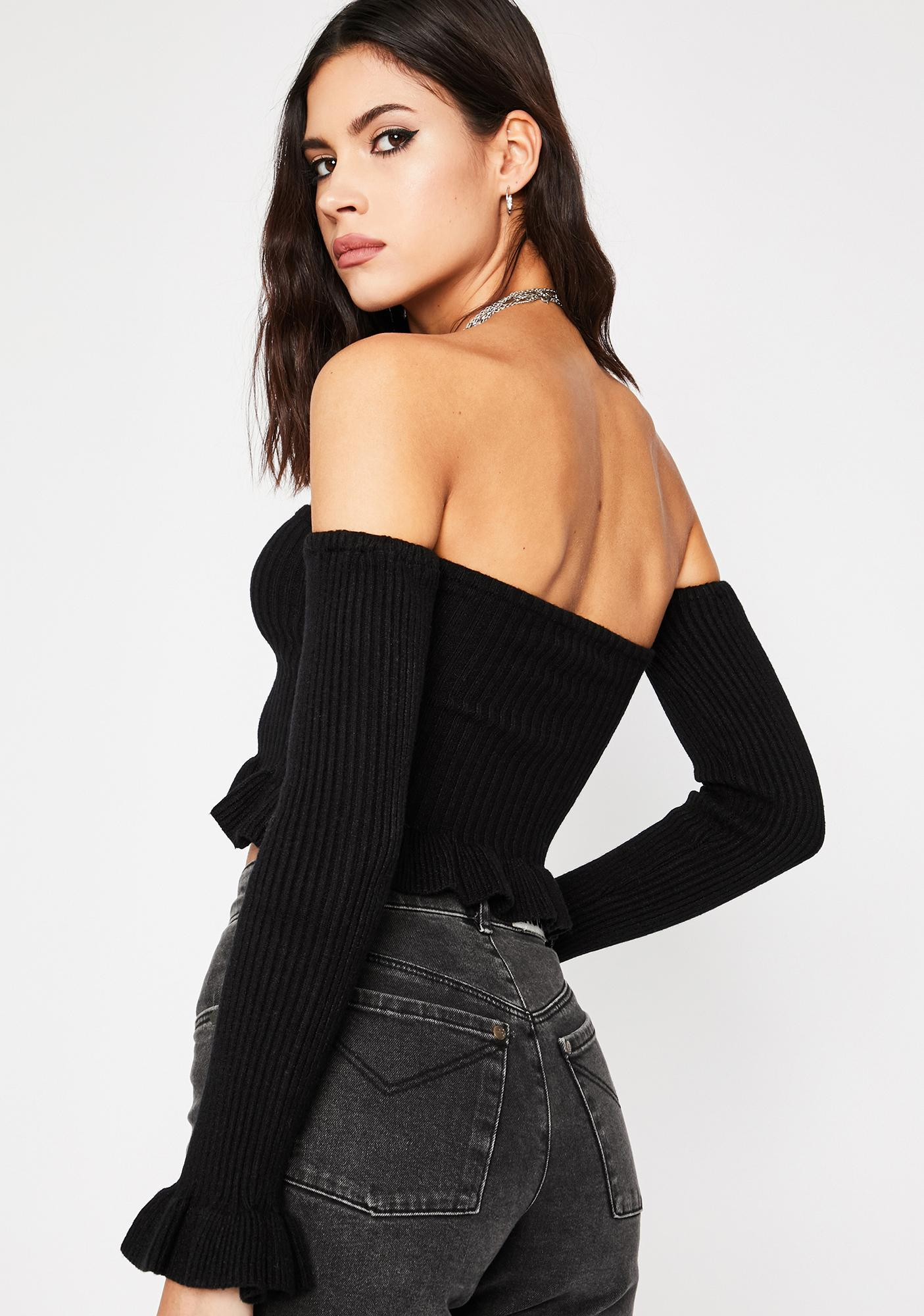 Off Topic Crop Sweater