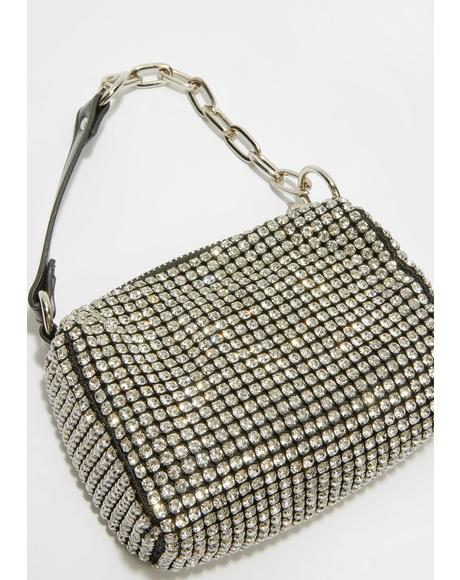 Can't Afford Me Rhinestone Handbag