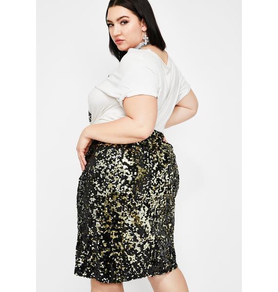 Bomb Baddie Bling Sequin Skirt