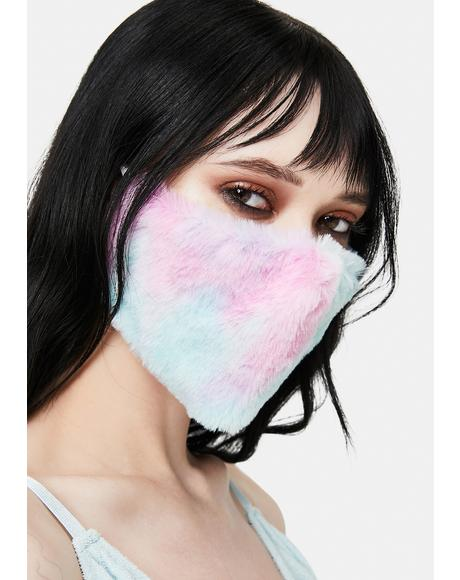 Pastel Cuddle Queen Fuzzy Face Mask