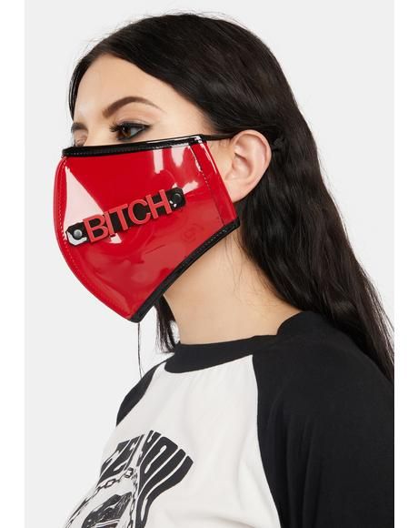 Bitch PVC Face Mask