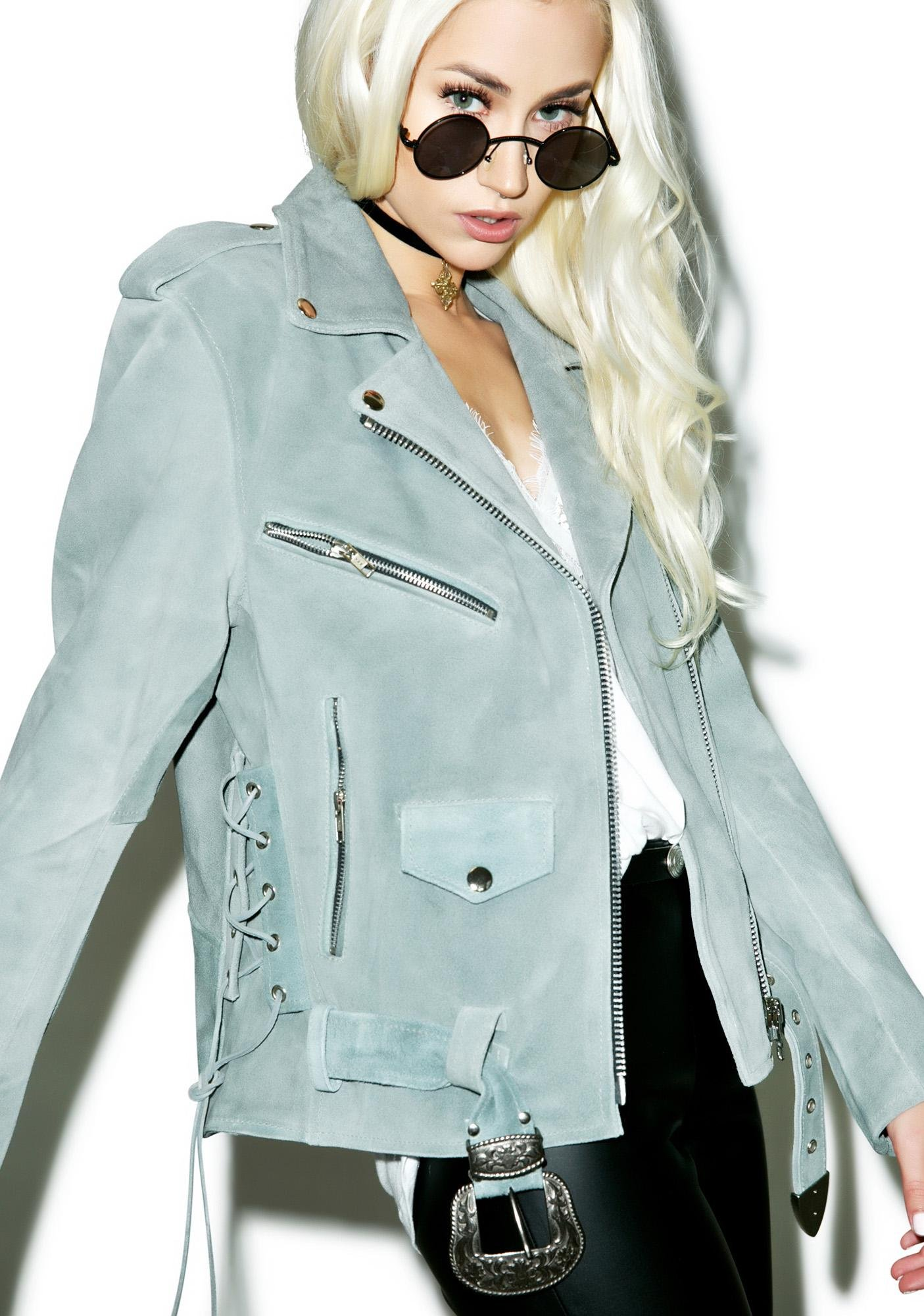 For Love & Lemons Moto Suede Jacket