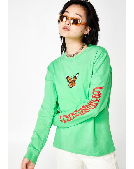 Butterfly Graphic Long Sleeve Tee