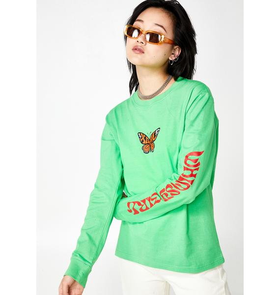 x-Girl Butterfly Graphic Long Sleeve Tee