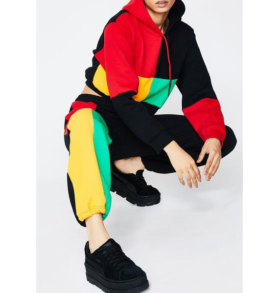 Cross Colours Color Block Sweatpants