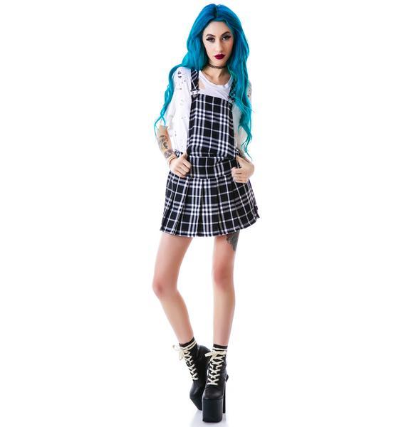 Tripp NYC Plaid Jumper Dress
