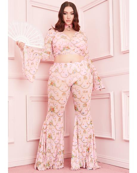 Lux Lush Opulence Flare Pants