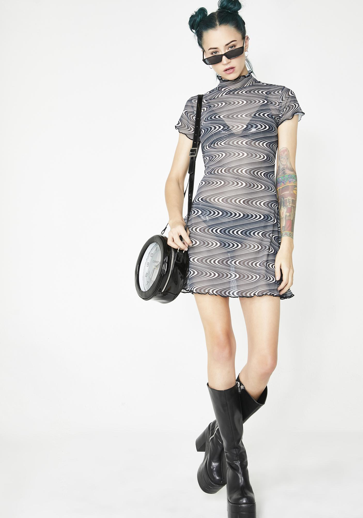 Current Mood Timewarp Mesh Dress