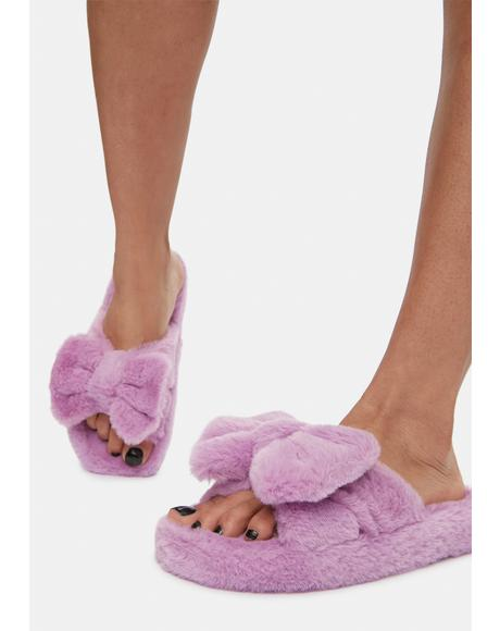 Snuggle Up Fuzzy Slippers