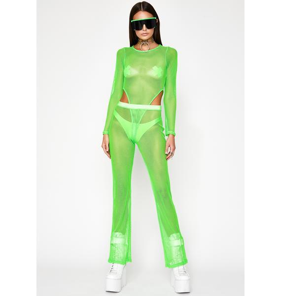 Slime Infinite Illusion Mesh Bodysuit
