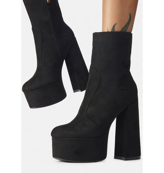 Late Makeout Monday Platform Ankle Boots