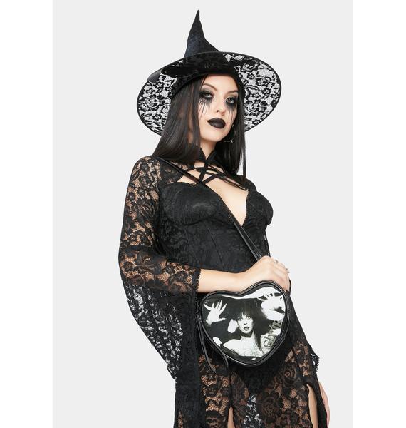Kreepsville 666 Elvira Lace Mini Heart Purse