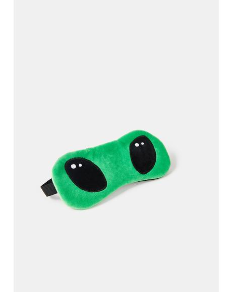 A-Sleepy Alien Plush Sleep Mask